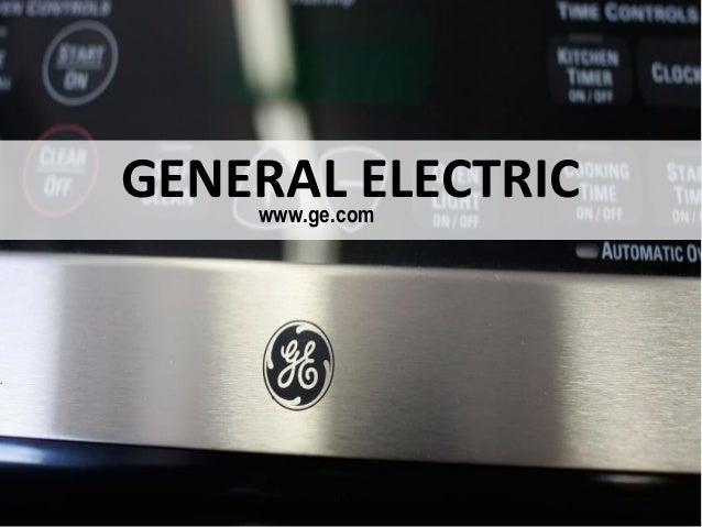 GENERAL ELECTRICwww.ge.com