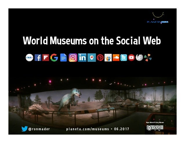 World Museums on the Social Web @ r o n m a d e r p l a n e t a . c o m / m u s e u m s • 0 6 . 2 0 1 7 Vegas Natural Hist...