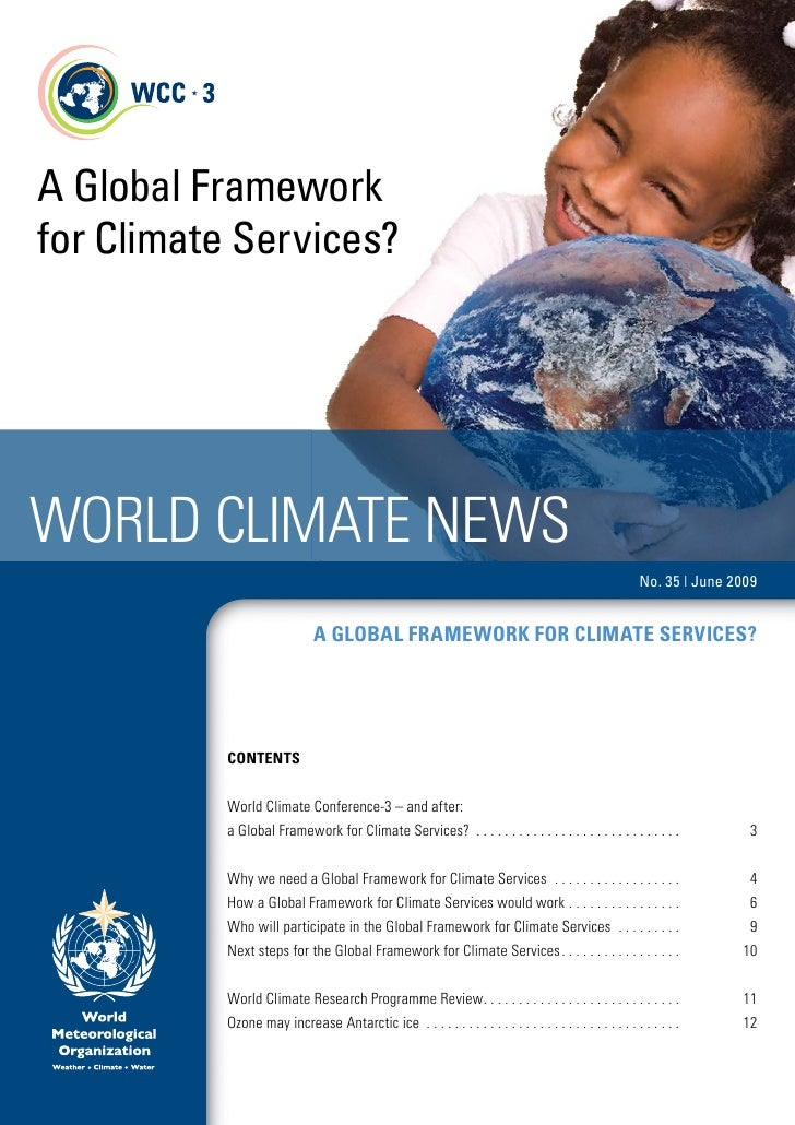 A Global Framework for Climate Services?     World Climate NeWs                                                           ...