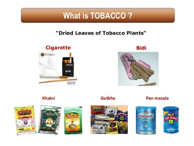 'Say No to Tobacco' WHO WNTD 31st May Slide 2