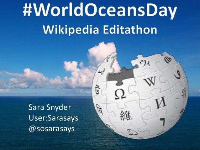 Sara Snyder User:Sarasays @sosarasays