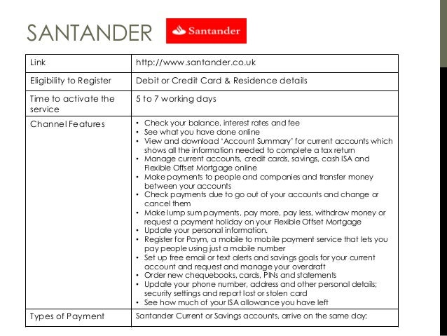 Santander Cash Card >> World of digital banking v3 Author Muthu
