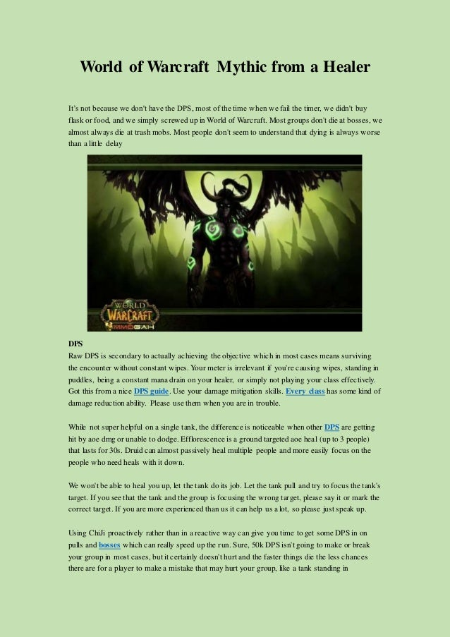World Of Warcraft Mythic From A Healer