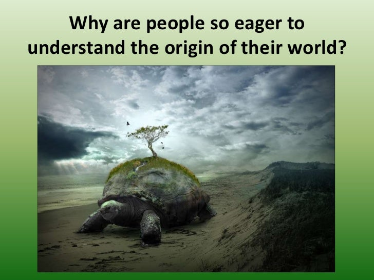 the earth on turtles back Turtles all the way down is an expression of the infinite regress problem in cosmology posed by the unmoved mover paradox the saying alludes to the mythological idea of a world turtle that supports the earth on its back.