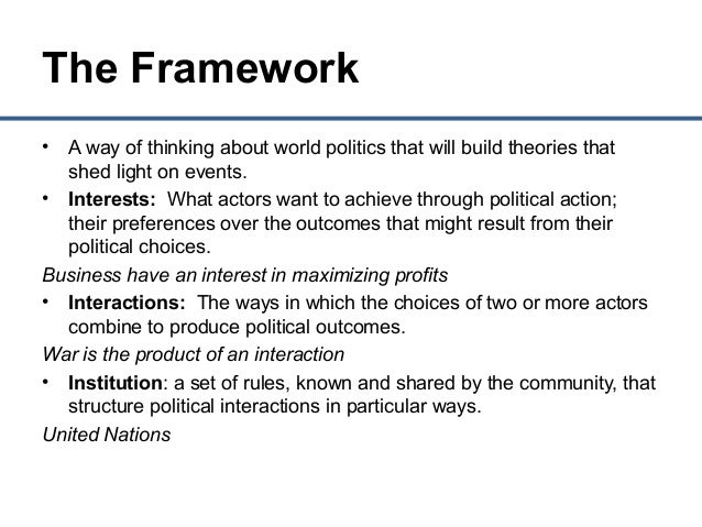 the theoretical frameworks for understanding foundations of political science Punctuated-equilibrium theory explaining stability and change in public policymaking related approaches in political science had previously noted that although policymaking often the policy process on a dual foundation of political institutions and boundedly rational.
