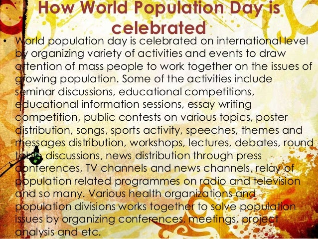 Long and Short Essay on World Population Day in English