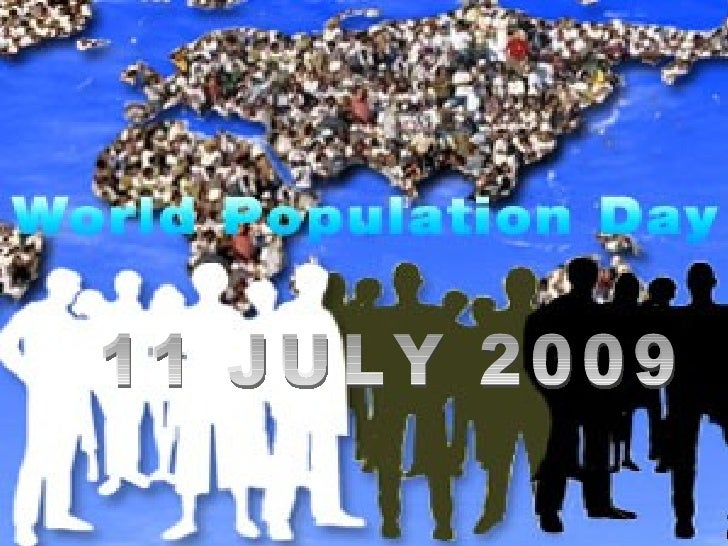 This year's annual World Population Day is  the 20th annual World Population Day. The Day's inception in 1989 by the then ...