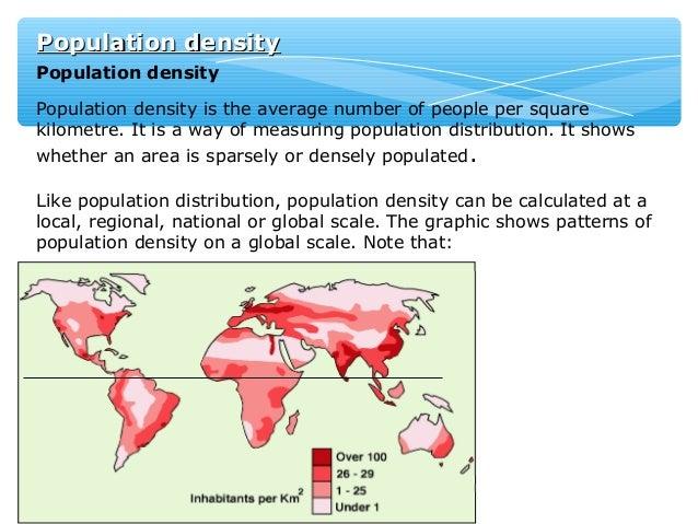 factors of population distribution