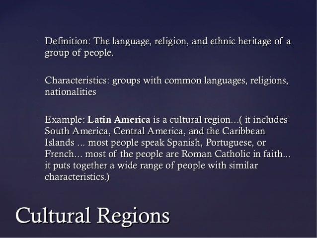 World regions.