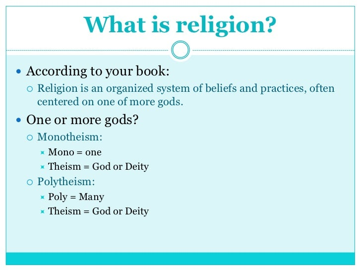 World Religions - List of major world religions