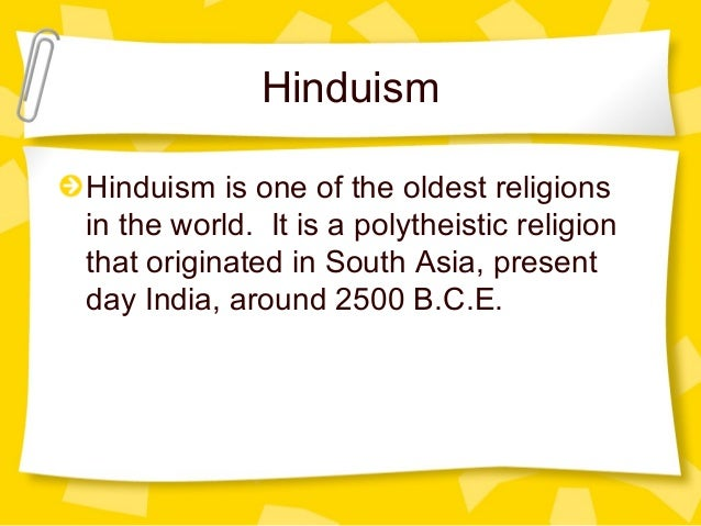 World Religions - Oldest religion in the world