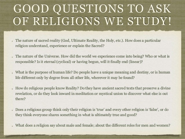 questions to ask someone about their religion