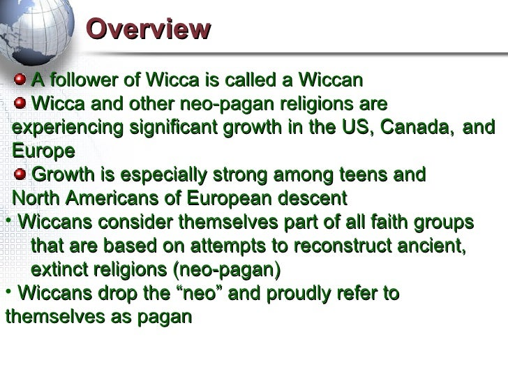 a comparison between christianity and the wiccan religion Wiccans sometimes incorporate specific figures from a variety of pre-christian  belief systems into their own cosmology, either as analogs for the god or  goddess.
