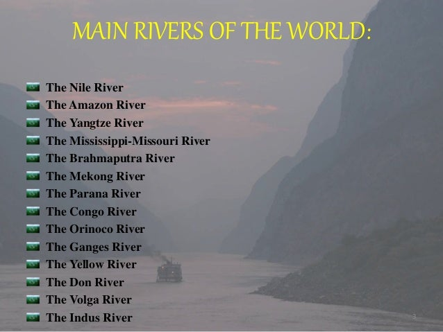 World Rivers - World famous river name