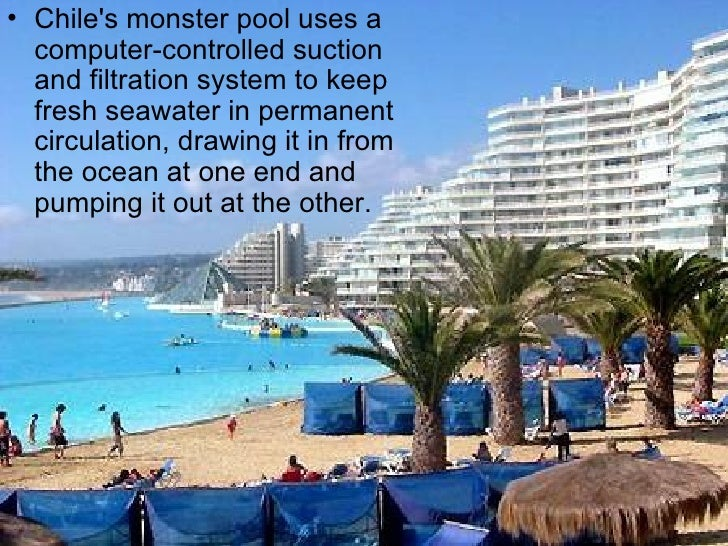 Worlds largest swimming pool chile for Largest swimming pool in the world in chile