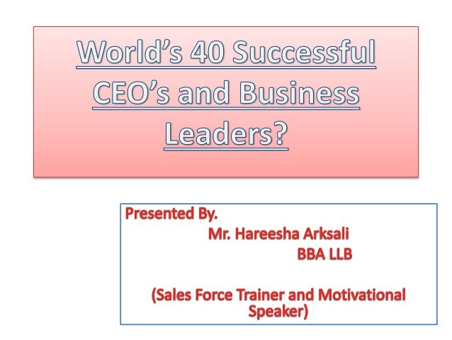 effective athletic and business leaders 1 Effective athletic and business leaders jeffery blake laney concordia university irvine effective athletic and business leaders effective leaders can be found in a.