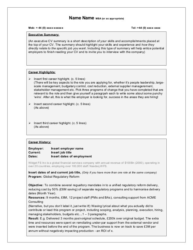 Free Template For The Worldu0027s Best Change Management CV. Probably. Name  Name MBA (or As Appropriate) Mob: + 44 (0) Xxxx ...  Change Management Template Free