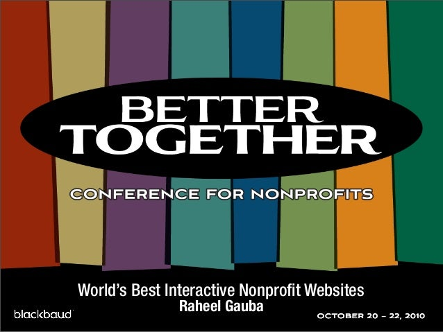 World's Best Interactive Nonprofit Websites Raheel Gauba