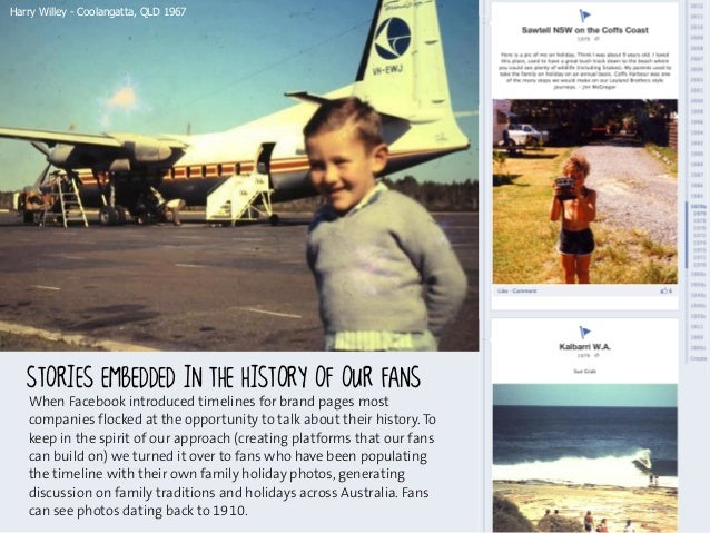 Harry Willey - Coolangatta, QLD 1967   When Facebook introduced timelines for brand pages most   companies flocked at the ...