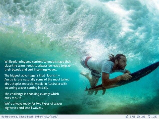 While planning and content calendars have their  place the team needs to always be ready to grab  their boards and surf in...