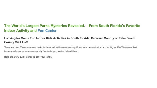 Worlds Largest Parks Mysteries Revealed From South Floridas Fav