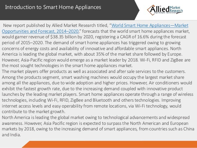 home appliances market The us household appliances market size was valued at usd 4334 billion in  2016 the growing popularity of induction cooking technology in the wake of.