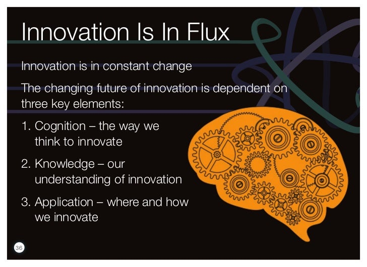Innovation Is In Flux Innovation is in constant change The changing future of innovation is dependent on three key element...
