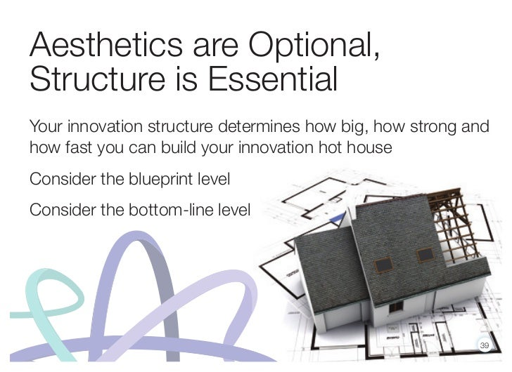 Aesthetics are Optional,Structure is EssentialYour innovation structure determines how big, how strong andhow fast you can...