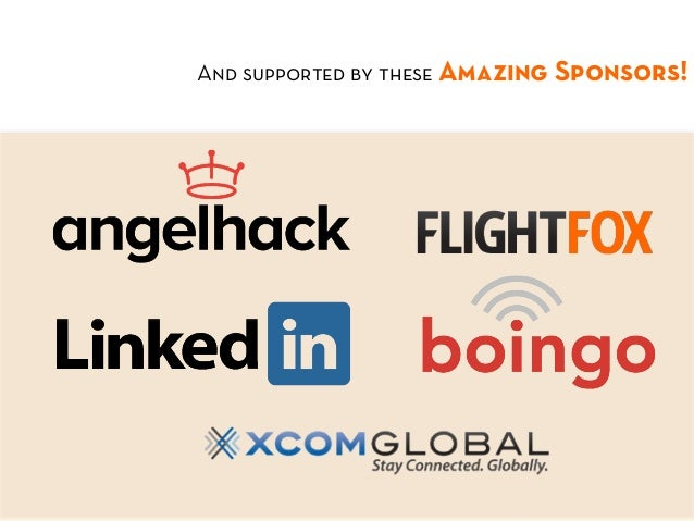 And supported by these Amazing Sponsors!