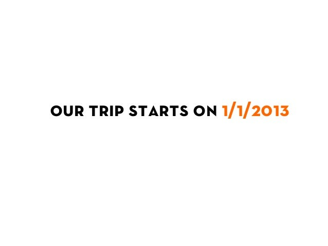 our trip starts on 1/1/2013