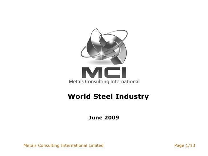 World Steel Industry June 2009