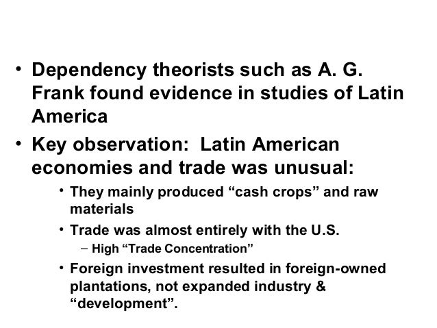 frank development of underdevelopment 1 Random harvest - theories of underdevelopment and the 1 introduction an theories of underdevelopment development economists study.