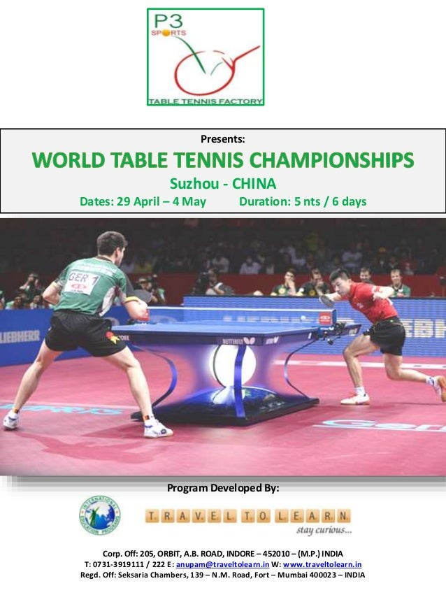 World table tennis championships 2015 ppt - World table tennis championships ...