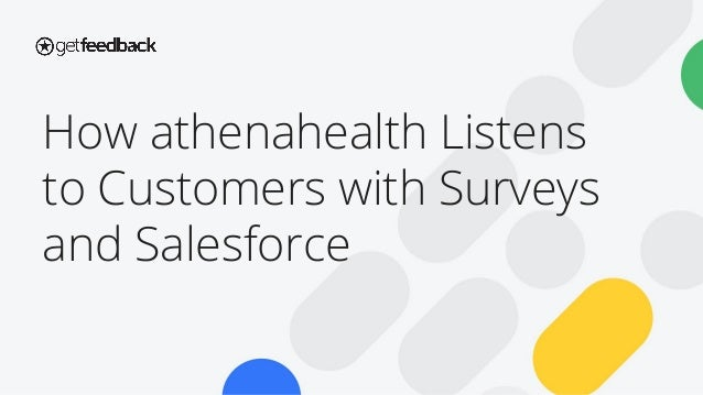 How athenahealth Listens to Customers with Surveys and Salesforce