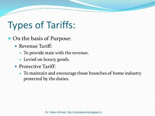 Specific Tariff or Non-Tariff Trade ?