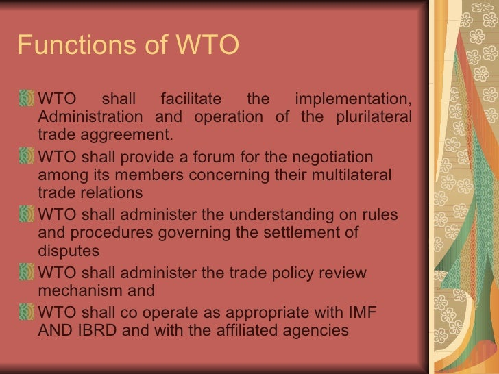 an analysis of the dispute settlement mechanism of the world trade organisation Beijing, aug 10 (xinhua) -- china plays an irreplaceable role in maintaining the effective functioning of the world trade organization (wto) dispute settlement mechanism, said an expert china, the world's largest trader of goods, has been a strong supporter of wto rules, said gu baozhi, a.