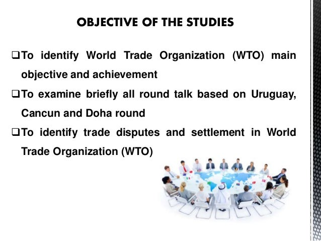 a history of the world trade organisation Wto is an international non-profit organization regulating trade between its  participating countries.