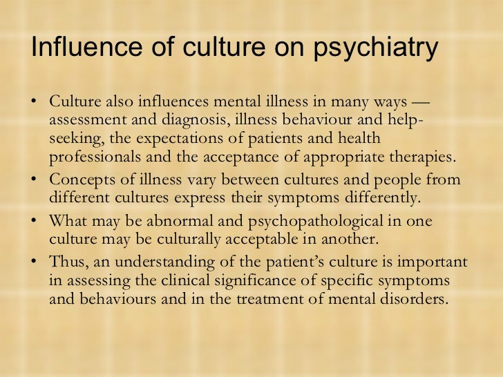 cultural bound syndrome Do ''culture-bound  many critics of the dsm-iv argue that the term ''culture-bound syndrome'' assumes that culture is a secondary.