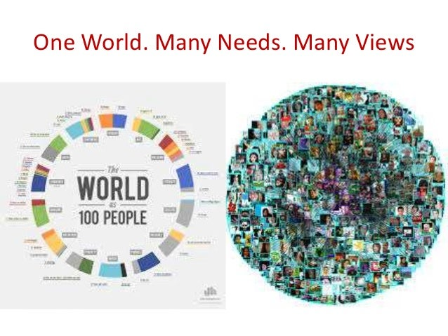 One World. Many Needs. Many Views
