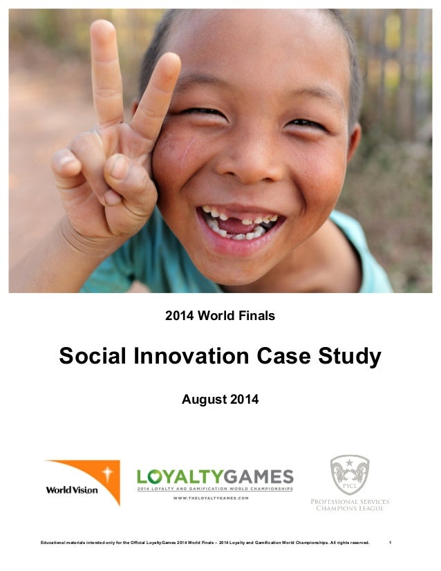 Educational materials intended only for the Official LoyaltyGames 2014 World Finals – 2014 Loyalty and Gamification World ...