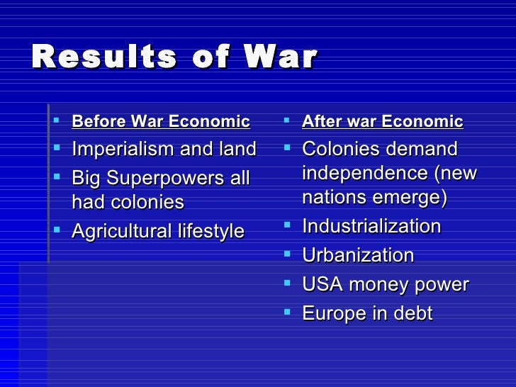 the effects of world war ii on a nation The aftermath of world war ii was the primarily from specific rights which had been granted to great powers from league of nations mandates in the post world war.
