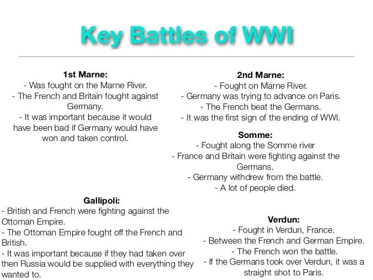 an examination of the significance of the second battle of the marne in world war i Battles - the second battle of the marne, 1918 in what began as the last major german offensive of the first world war, the second battle of the marne developed into a significant allied victory.