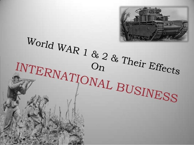the effects of world war i In 1914 the whole world was in the throes of a horrible war known as the world war i it is so called because of its unprecedented horribleness and extensive nature.