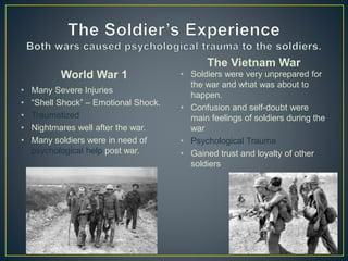 World War 1 vs  The Vietnam War