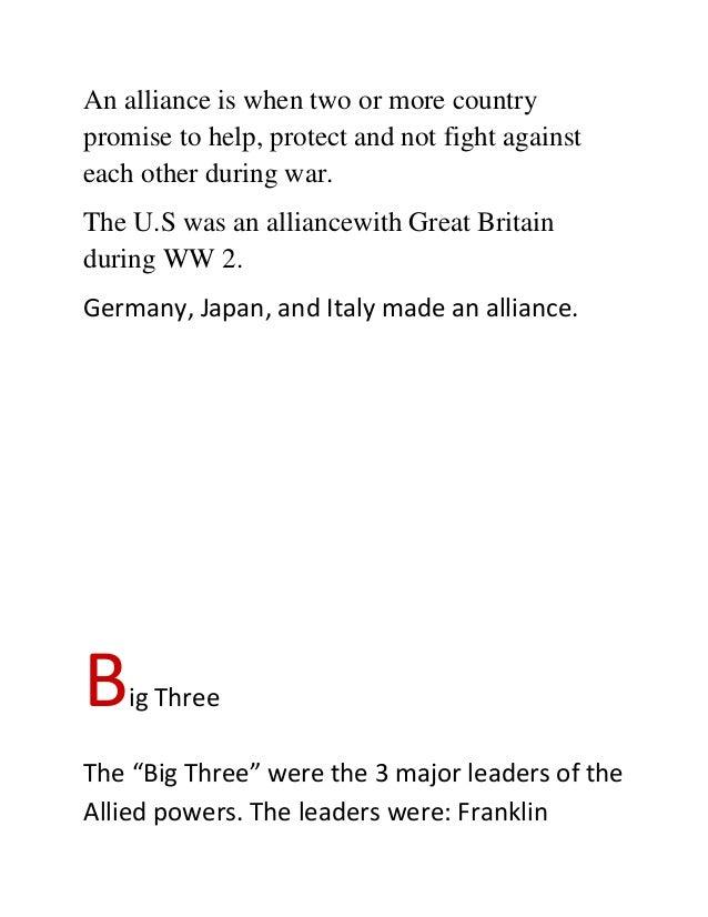 Abc world war 2 essay