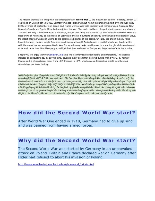 The modern world is still living with the consequences of World War 2, the most titanic conflict in history. almost 73 yea...
