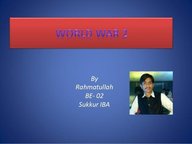 By Rahmatullah BE- 02 Sukkur IBA