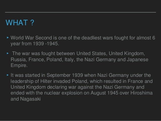 the effects of the second world war The first world war: how did it start and who was to blame in 1918  this  offered a golden opportunity for germany to make a second bid for.