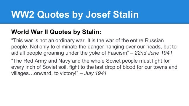 Quotes from World War II
