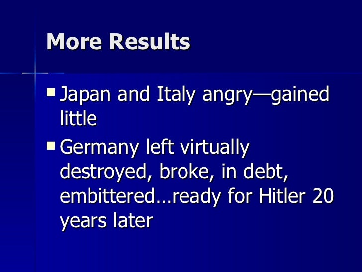 the results of world war 1 The eastern front in world war 1 was every bit as horrendous as the western front and the war in the west cannot be fully understood without appreciating the effect.